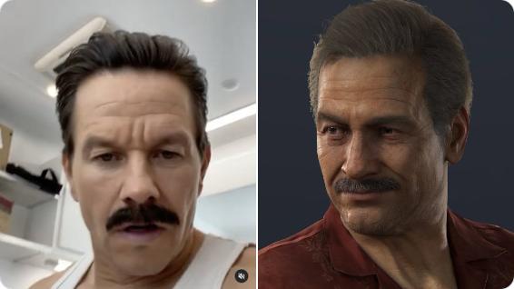 Марк Уолберг в образе усатого Салли из фильма по Uncharted